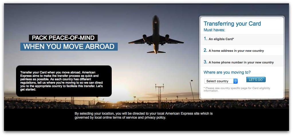 美國運通的Global Card Transfers